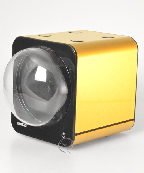 Uhrenbeweger Boxy Fancy Brick - Gold - mit Netzadapter
