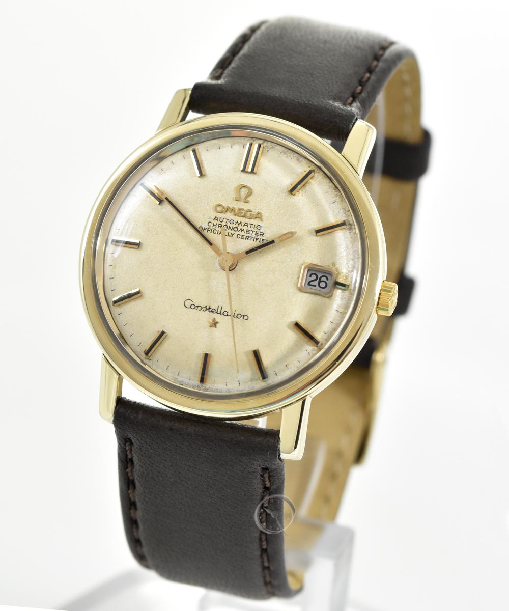 Omega Constellation Automatik Chronometer mit Goldhaube