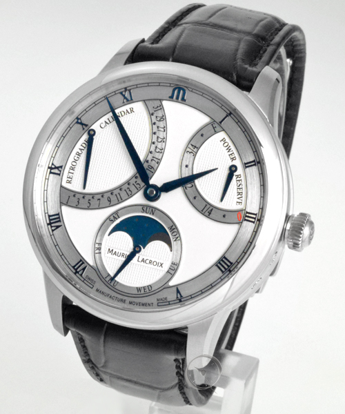 Maurice Lacroix Masterpiece Moonphase Retrograde 43 mm - 30% gespart!*