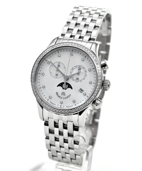Maurice Lacroix Les Classiques Phase de Lune Chronographe Damen - 37,7 % gespart!*