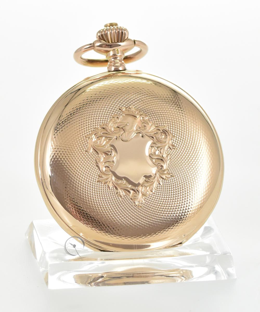 IWC 14k Gold Savonnette Taschenuhr