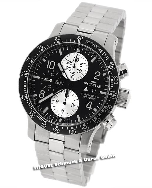 Fortis B-42 Stratoliner Chronograph Black