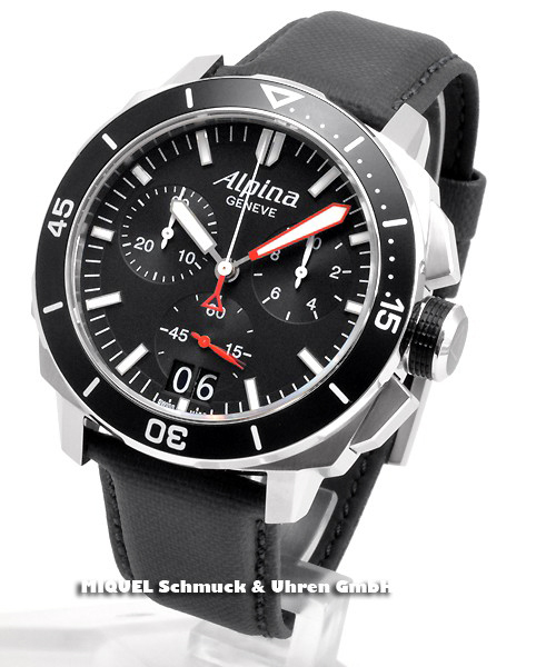 Alpina Seastrong Diver 300 Chronograph Big Date - 44,7% gespart ! *