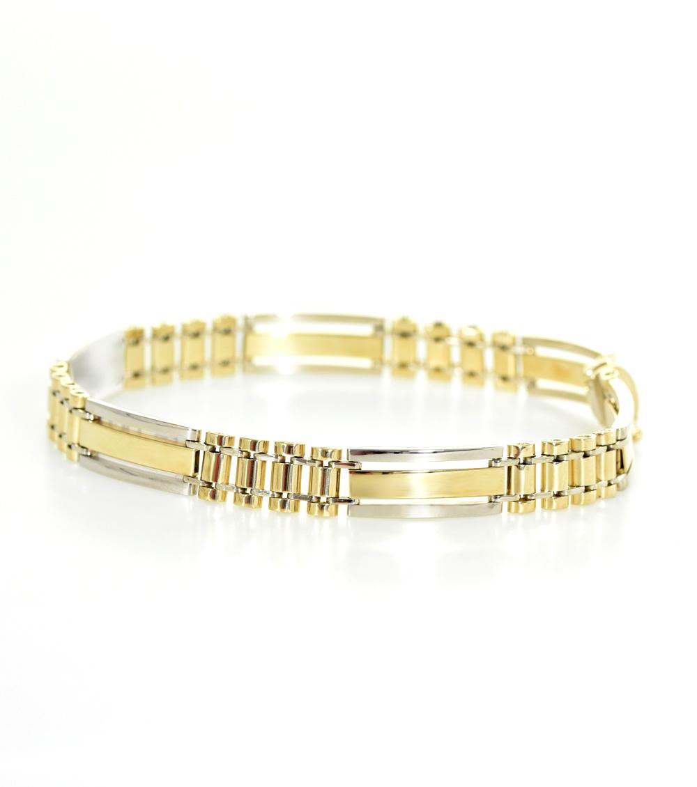 Herrenarmband 14ct Gold