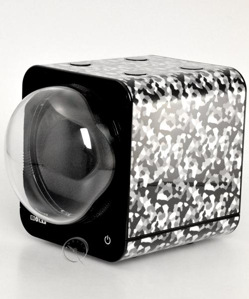Uhrenbeweger Boxy Fancy Brick - Camouflage - mit Netzadapter