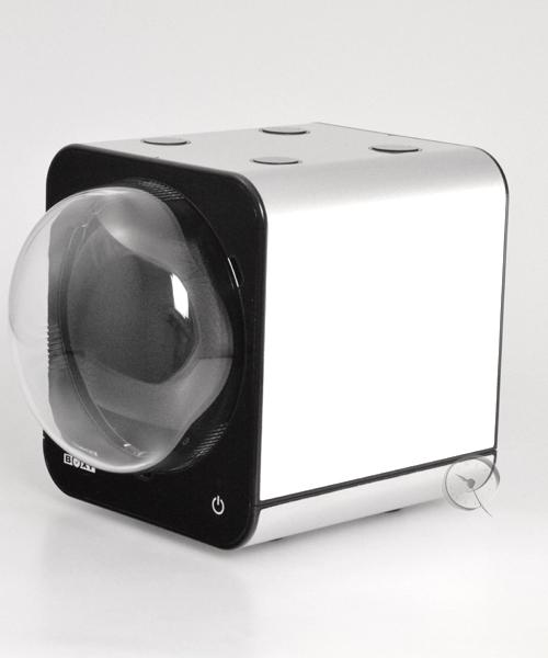 Uhrenbeweger Boxy Fancy Brick - Platinum - mit Netzadapter
