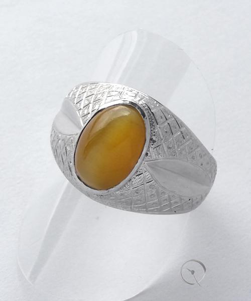 14ct Weißgold Unikat Ring mit Mondstein
