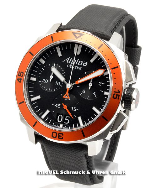 Alpina Seastrong Diver 300 Chronograph Big Date - 34,7% gespart ! *