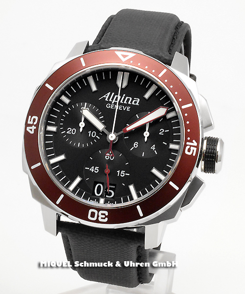 Alpina Seastrong Diver 300 Chronograph Big Date - 39,8 % gespart ! *