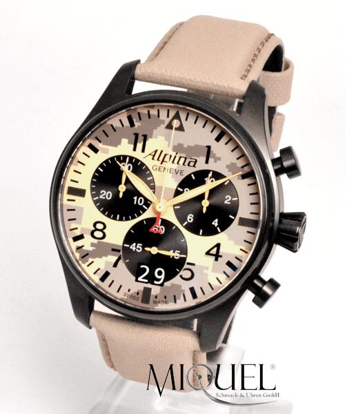 Alpina Startimer Pilot Chronograph Desert Camouflage - 49,9% gespart ! *