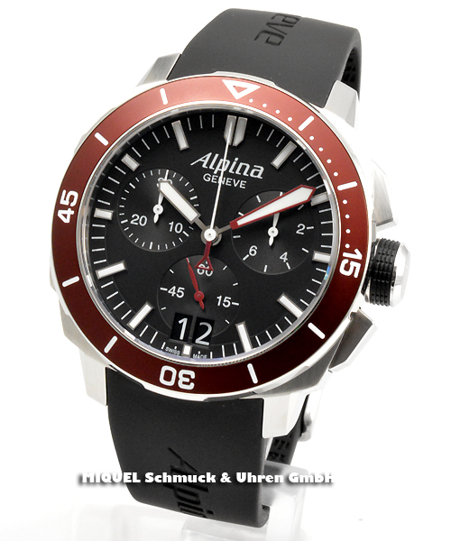 Alpina Seastrong Diver 300 Chronograph Big Date- 44,7% gespart ! *