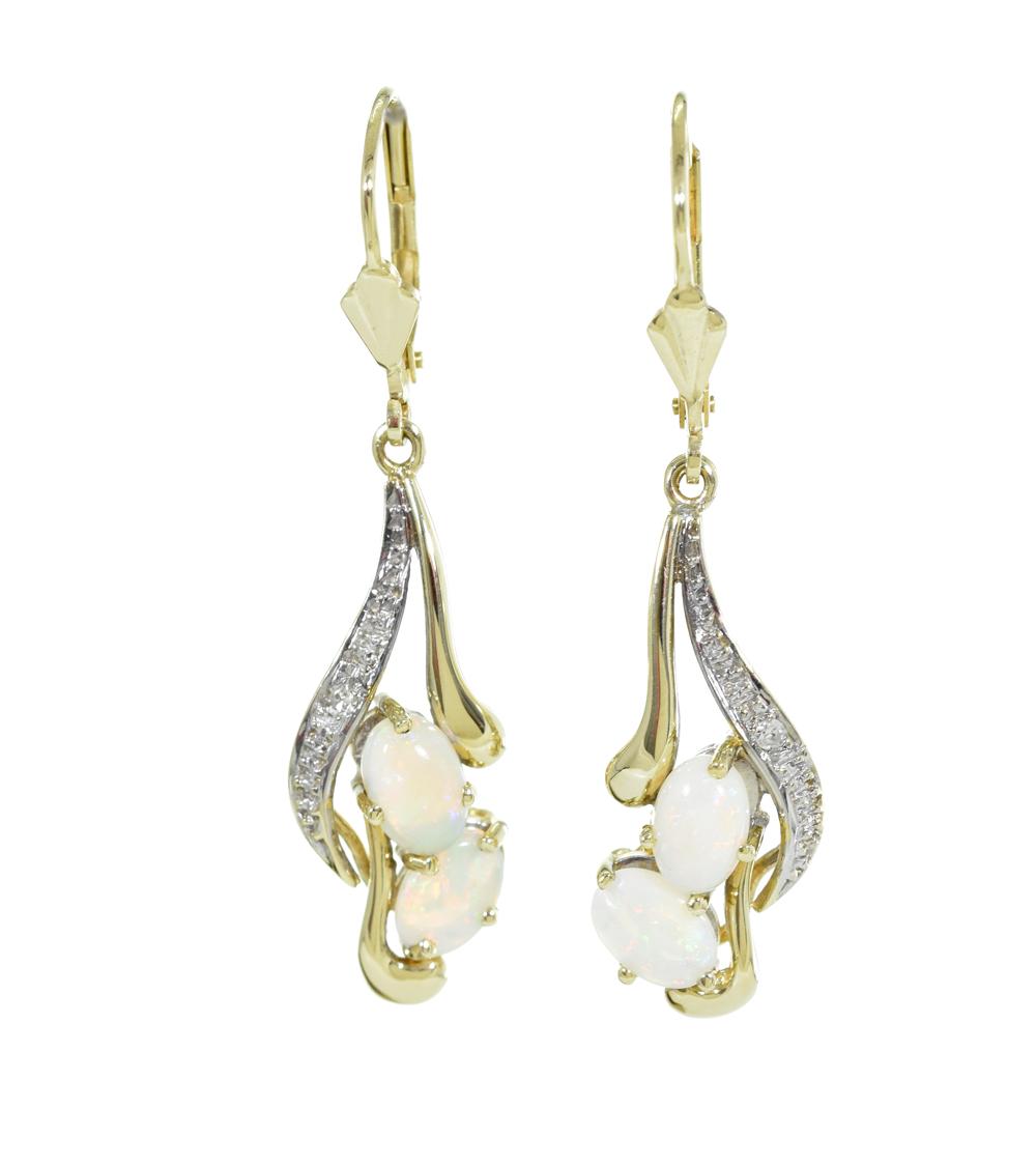 Ohrhänger 14ct mit Opalen