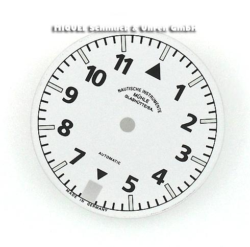 Mühle Glashütte Zifferblatt mit Zeigerspiel und Datumsscheibe für Mühle Glashütte Sports M12 Damenuh