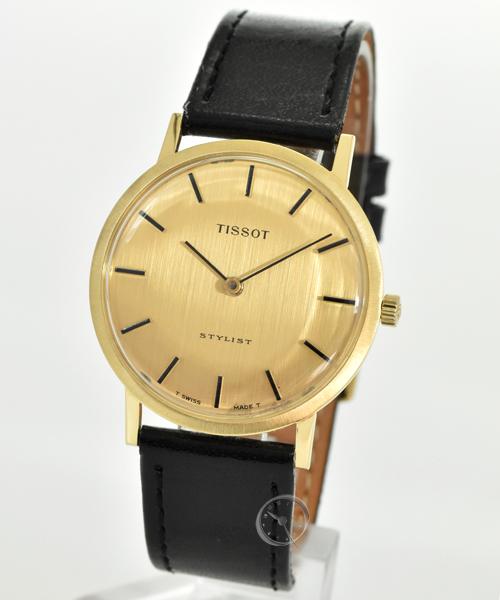 Tissot Stylist Handaufzug 18ct Gold